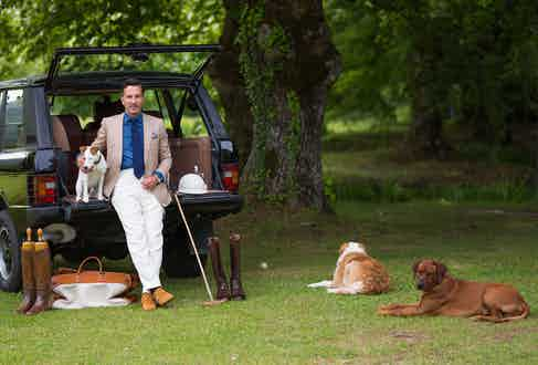 Alexander Kraft wears bespoke Cifonelli.