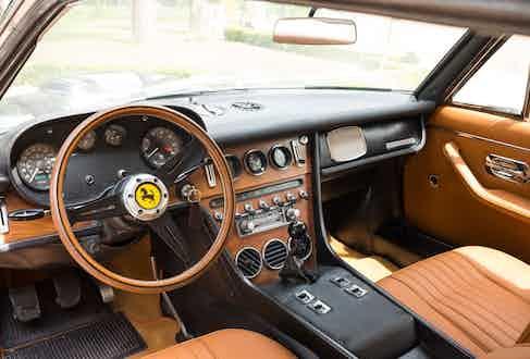 Alexander Kraft's Ferrari 365 interior.