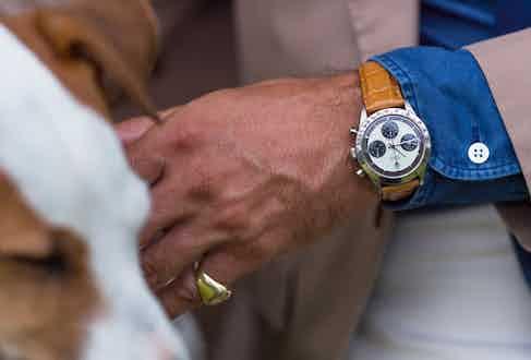 Alexander Kraft's Rolex Daytona with 'Paul Newman' dial.