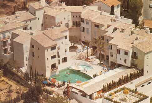 An aerial view of Hotel Byblos, before it was renovated.
