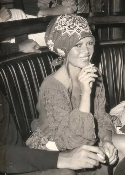 Brigitte Bardot at Les Caves du Roy.