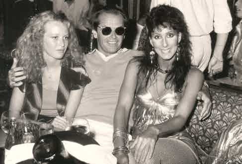 Jack Nicholson and Cher at Les Caves du Roy in 1982.