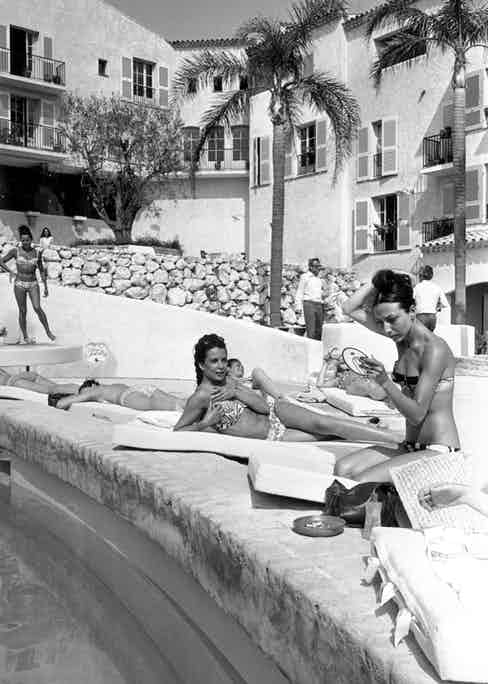 Guests at Hotel Byblos in 1967, the year the establishment opened.