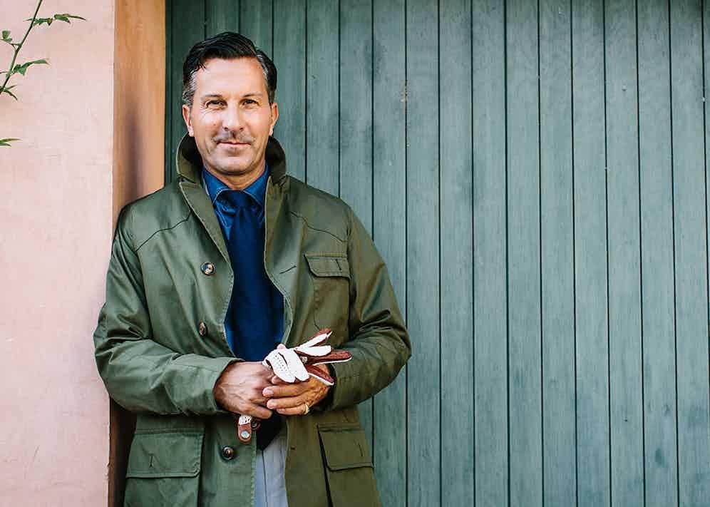 Alexander Kraft in Grenfell's Shooter jacket.