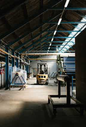 Baird McNutt's factory floor bathed in natural light.