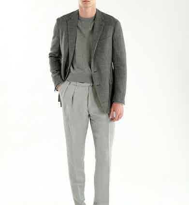 Ralph Lauren: Ralph's take on tonal, utilising a number of grey tones.