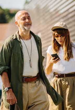 Nigel Cabourn and Emilie Casiez showing how to wear vintage military wear in the 21st century.