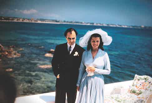 Prince Aly Khan and Rita Hayworth's wedding reception at the Chateau De L'Horizon in Cannes, 1949. Image by © Bettmann/CORBIS.