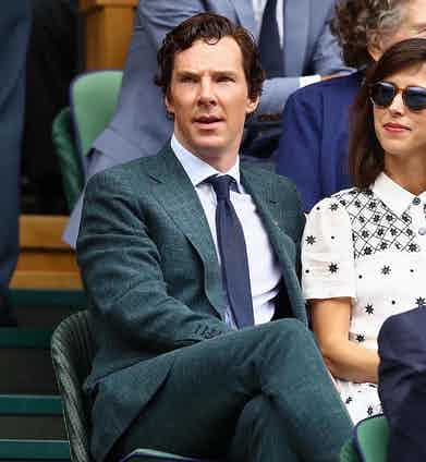 Benedict Cumberbatch in an intriguing teal green linen suit at last year's event.