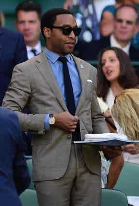 Chiwetel Ejiofor in a sharp Ralph Lauren suit, Wimbledon 2016.