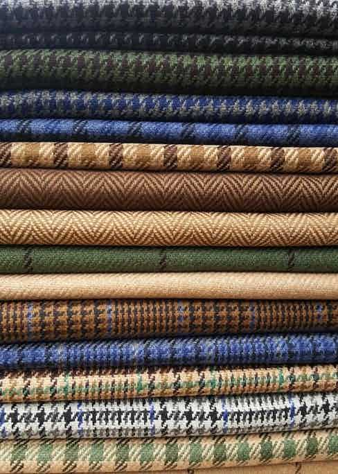 The new jacketing cloths from Fox Brothers AW18.