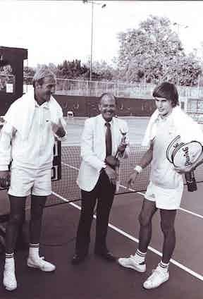 Stan Smith, Jim Tyler and Eric Van Dillon in 1972.