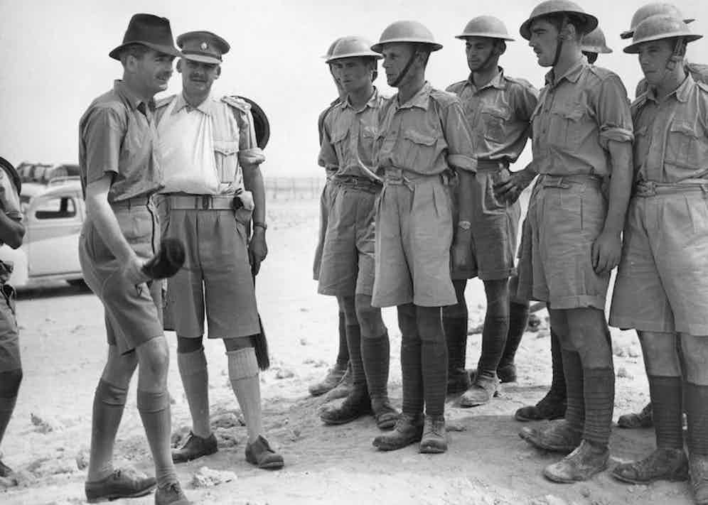 British statesman Anthony Eden inspecting troops in Egypt, 1940. Photo by Fox Photos/Getty Images.