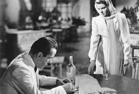 Alongside Humphrey Bogart in Casablanca, 1942.