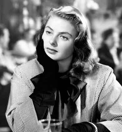 Playing Alicia Huberman in Notorious, 1946.