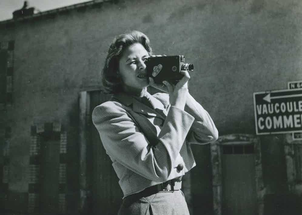 The actress behind the camera in France during the late 1940s. She later directed scenes in We, The Women, 1953.