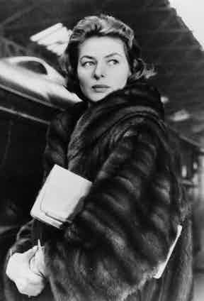 Epitomising 1940s glamour in a fur coat, circa 1948.