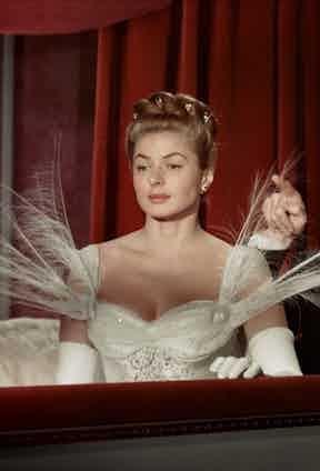 As a polish princess in Elena et les Hommes, 1956.