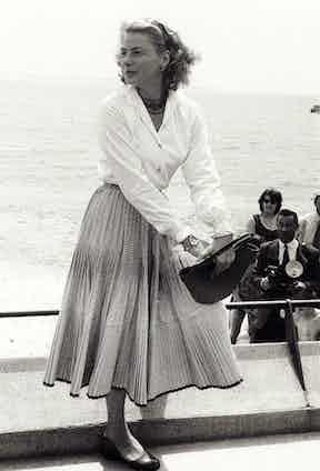 Ingrid Bergman at Cannes Film Festival, 1970. Photo by Bob Hawkins/Kobal/REX/Shutterstock.