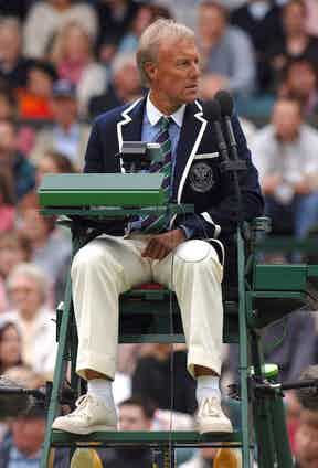 An umpire wearing the brand new Ralph Lauren uniform in 2006. Photo by Ray Tang/Rex.