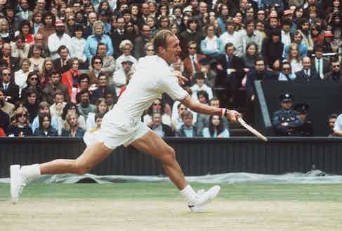 Stan Smith at the 1972 Wimbledon Men's Final. Photo by Allsport Hulton/Archive.