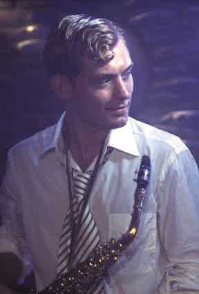 Dickie looking impossibly stylish even after an impromptu jazz performance.