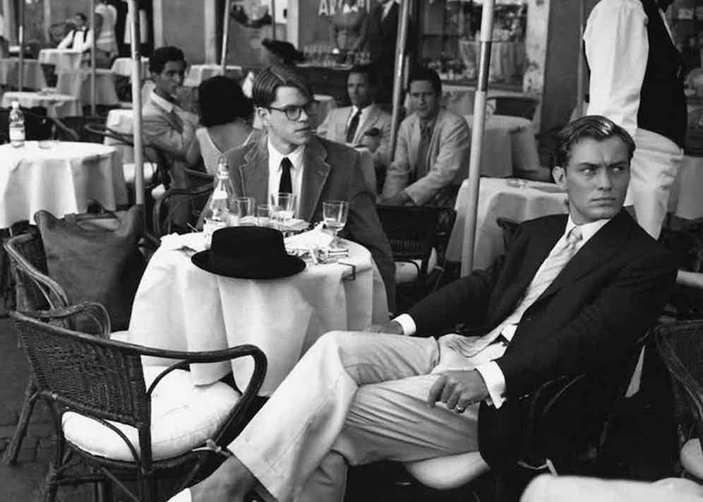 Dickie Greenleaf wears Battistoni, the Italian tailor he takes Tom Ripley to in Rome.