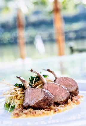 Succulent lamb chops at The Vintage House, which offers a choice of three dining areas.