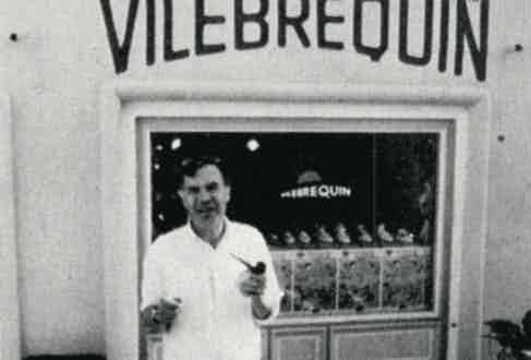 Founder Fred Prysquel outside an early Vilebrequin store, 1972.