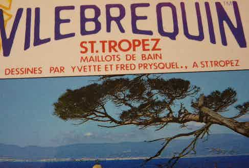 A vintage marketing campaign for Vilebrequin.