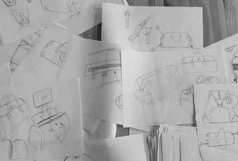 Initial sketches of Bennett Winch designs.