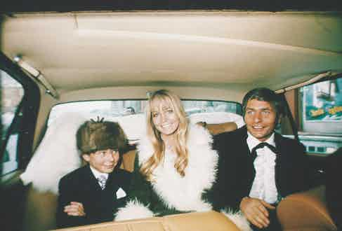Sachs with his third and last wife Mirja Larsson - and his son Rolf, from his first marriage - on their wedding day, 1969.