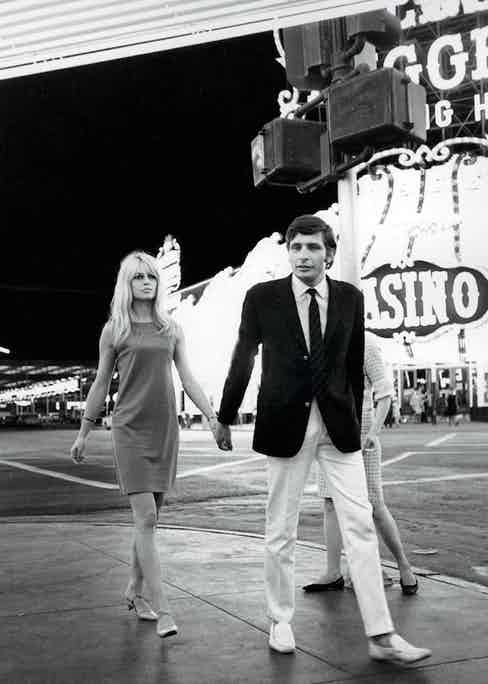 Bardot and Sachs following their wedding in Las Vegas, 1966.