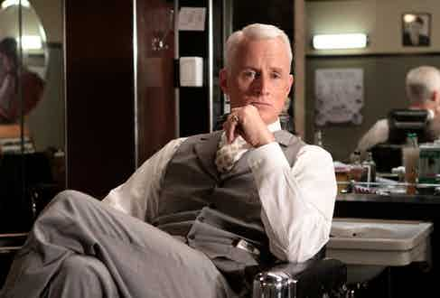 Throughout Mad Men, characters' suits symbolise different levels of power, with Roger Sterling's boasting consistent and superior levels of fit, formality and taste.