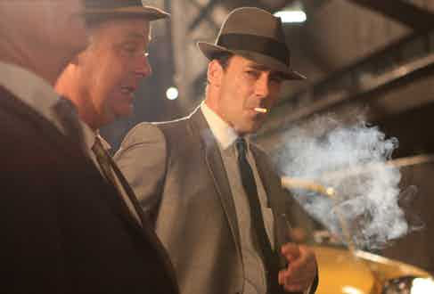 Jon Hamm once said in an interview that he smoked 74 cigarettes filming Mad Men's pilot episode alone; his character's smoking habit and penchant for whisky are two of his infamous vices.