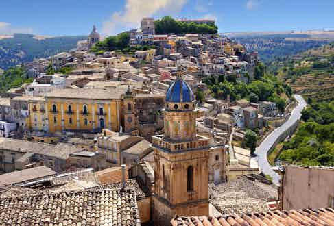UNESCO World Heritage hill town of Ragusa Ibla, Sicily. Photo by Paul Williams, Funkystock/REX/Shutterstock.