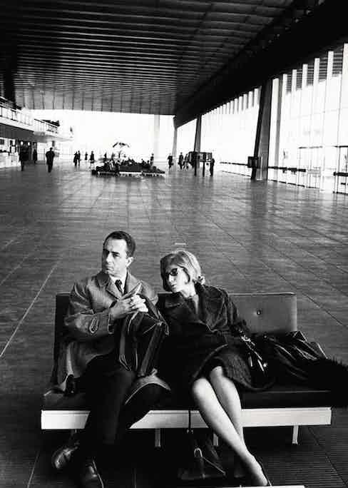 Michelangelo Antonioni and Monica Vitti in Rome, 1962.