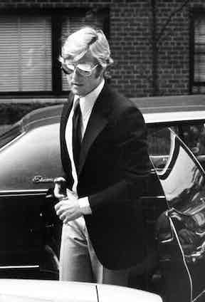 Robert Redford wears classic aviators in the shot later used for Galella's book cover.