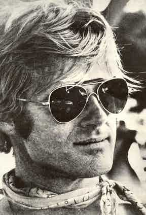 Robert Redford on the set of Little Fauss and Big Halsy, 1969.