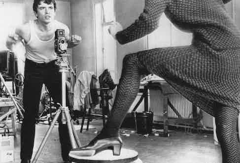 Bailey directs Moyra Swan, 1965. Photo by Dawn Mellor.
