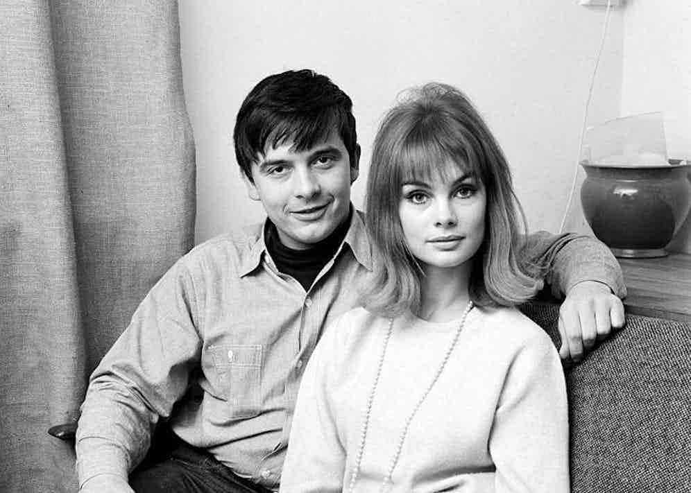 Bailey and Shrimpton at the photographer's home, 1963.