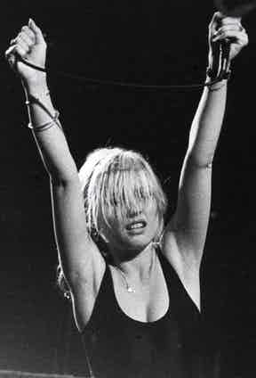 The singer performs as part of her band, Blondie, circa 1980. Photo by Pictorial Press Ltd / Alamy Stock Photo.