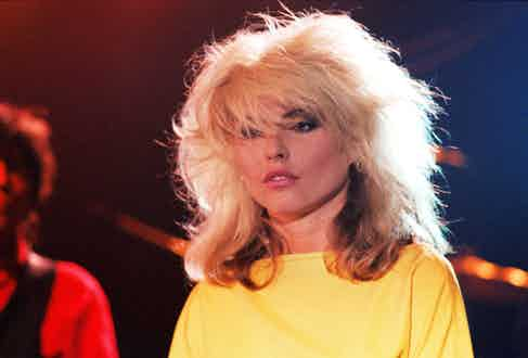 Debbie Harry on stage in 1978. Photo by John Henshall/Alamy Stock Photo.