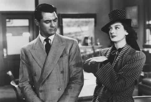 Cary Grant and Rosalind Russell in a scene from His Girl Friday, 1940. Photo by Columbia/Kobal/REX/Shutterstock.