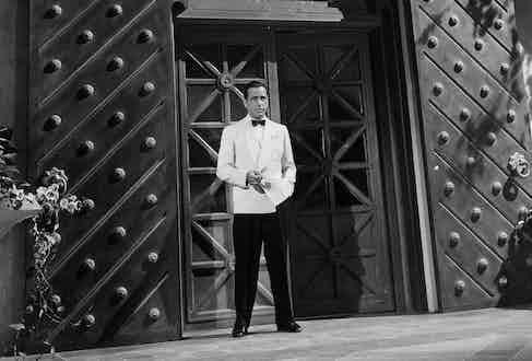 Humphrey Bogart as Rick Blaine in Casablanca, 1942. Photo by Warner Bros/Kobal/REX/Shutterstock.