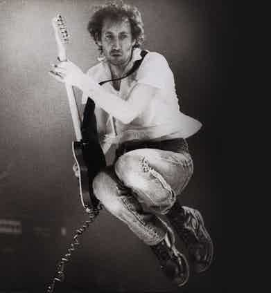 The Who's Pete Townshend was one of the first to take advantage of Dr. Martens air-cushioned soles and utilitarian aesthetic during his energetic performances.