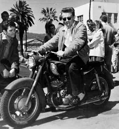 On the set of Rebel Without A Cause, 1955. Photo by Warner Bros/Kobal/REX/Shutterstock.