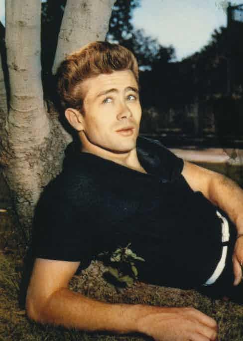 Wearing a textured polo shirt, circa 1955.