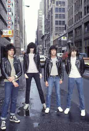 Ramone with the band in New York City, 1981.