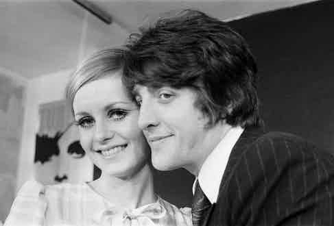 Twiggy and Justin pictured at the launch of her new collection, The Twiggy Look Collection, 1967. Photo by Trinity Mirror/Mirrorpix/Alamy Stock Photo.